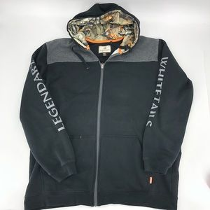 Legendary Whitetails Black Camo Zip Hoodie